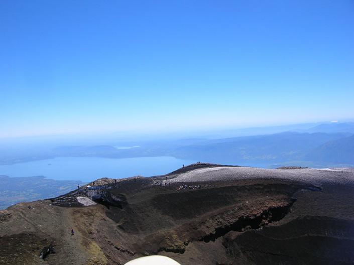 Villarrica Crater Patagonia Chile