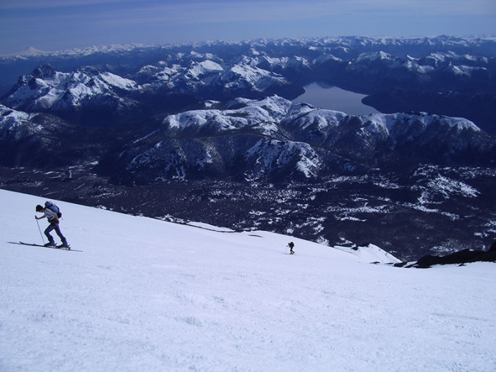 Lanin Volcano Ski Touring Bariloche Patagonia
